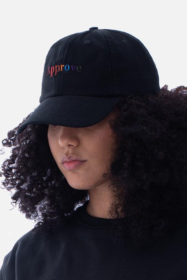 Boné Approve Dad Hat Rainbow Preto