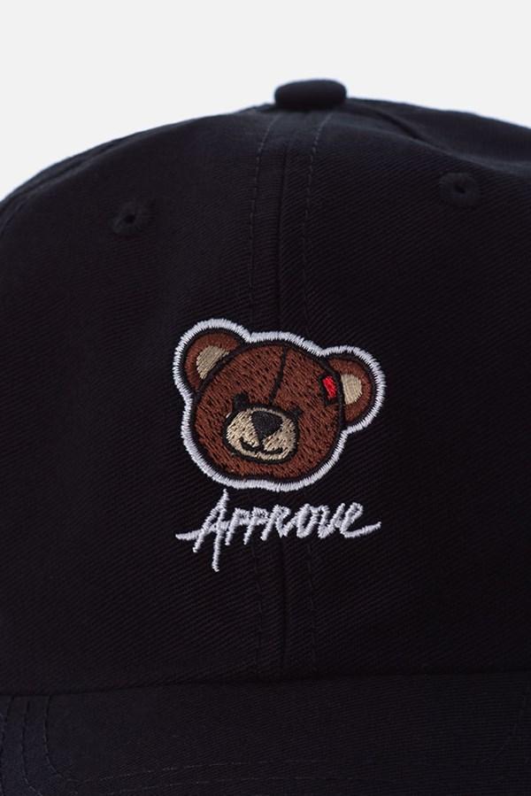 Boné Dad Hat Approve Bear Summer Preto