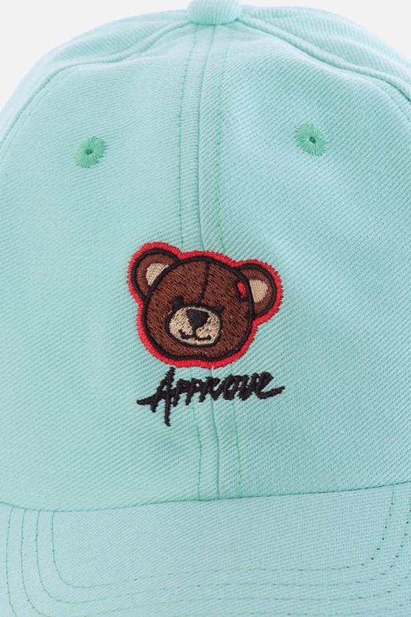 Boné Dad Hat Approve Bear Summer Verde Água