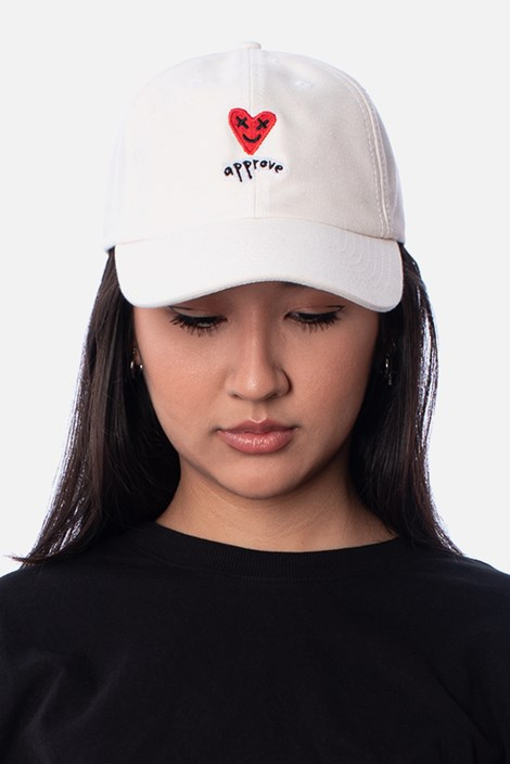 Boné Dad Hat Approve Lp Heart Basic Off White