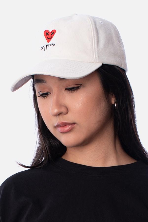 Boné Dad Hat Approve Lp Heart Basic Off White