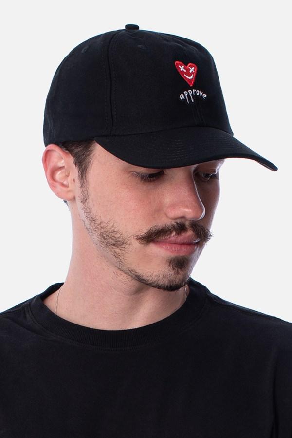 Boné Dad Hat Approve Lp Heart Basic Preto