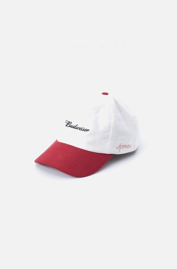 Boné Dad Hat Approve X Budweiser Off White E Vermelho