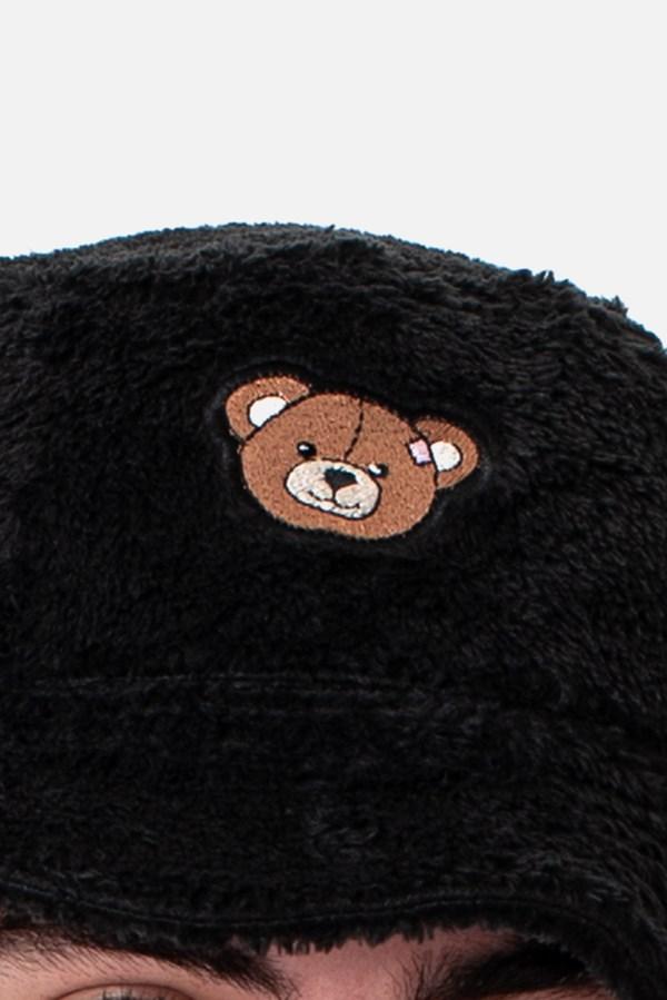 Bucket Dupla Face Pelúcia Approve Bear by Picon Preto