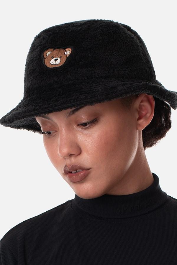 Bucket Dupla Face Pelúcia Approve Bear Preto