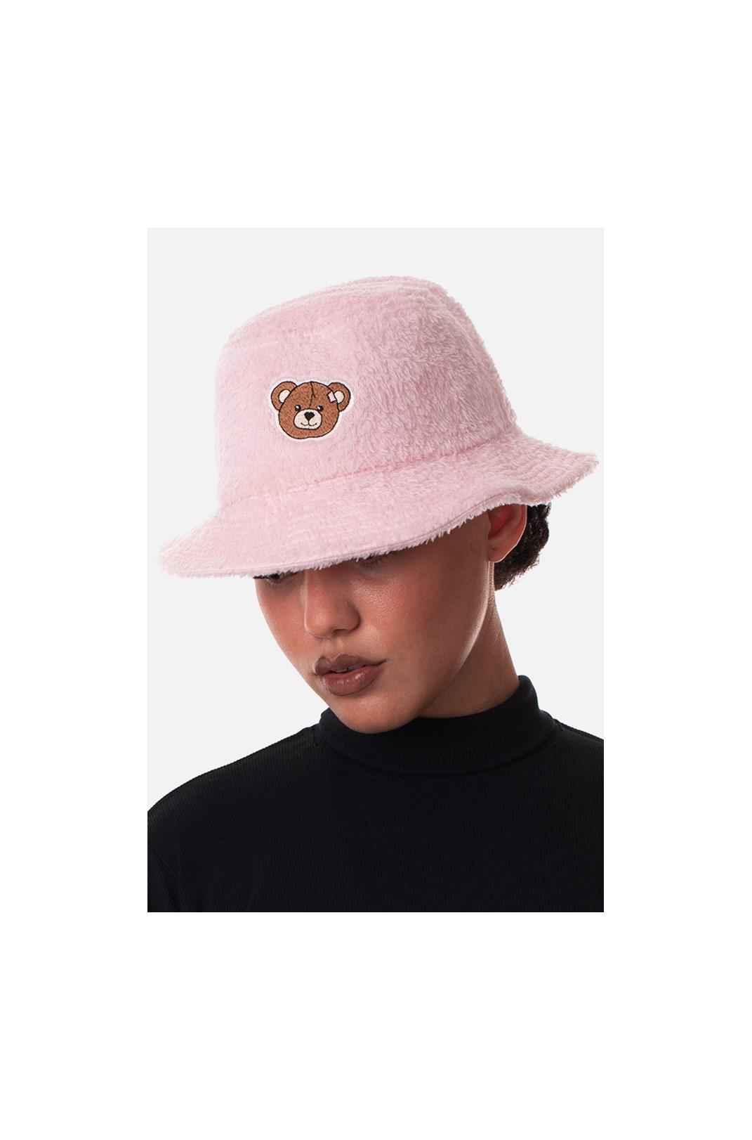 Bucket Dupla Face Pelúcia Approve Bear Rosa
