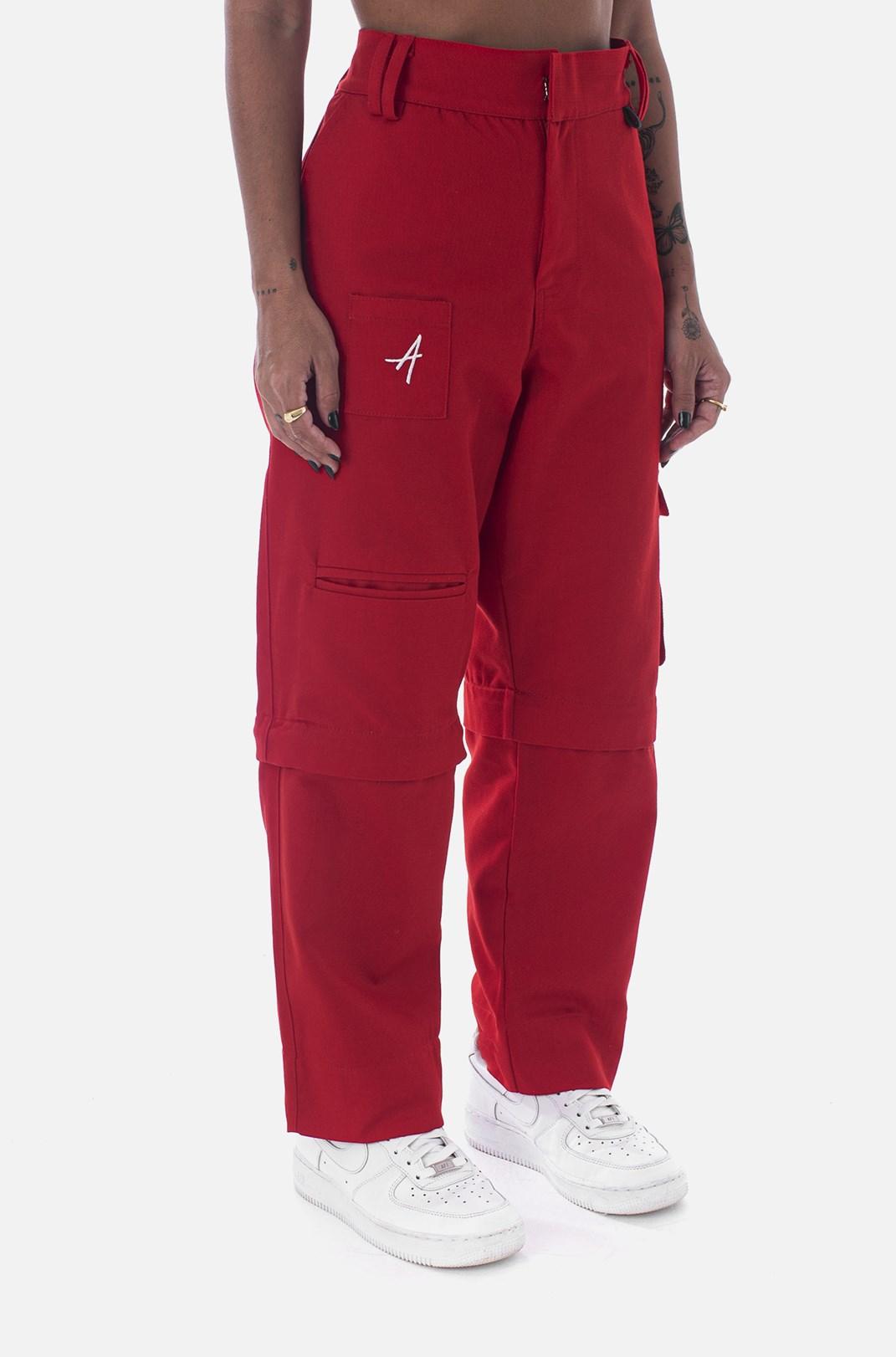 Calça Cargo Approve Workwear Vermelha