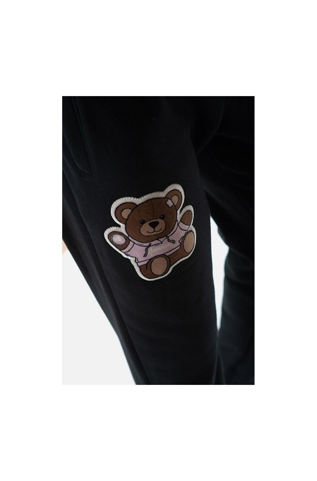 Calça Moletom Approve Bear Preta