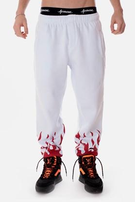 Calça Moletom Approve Flames Branca