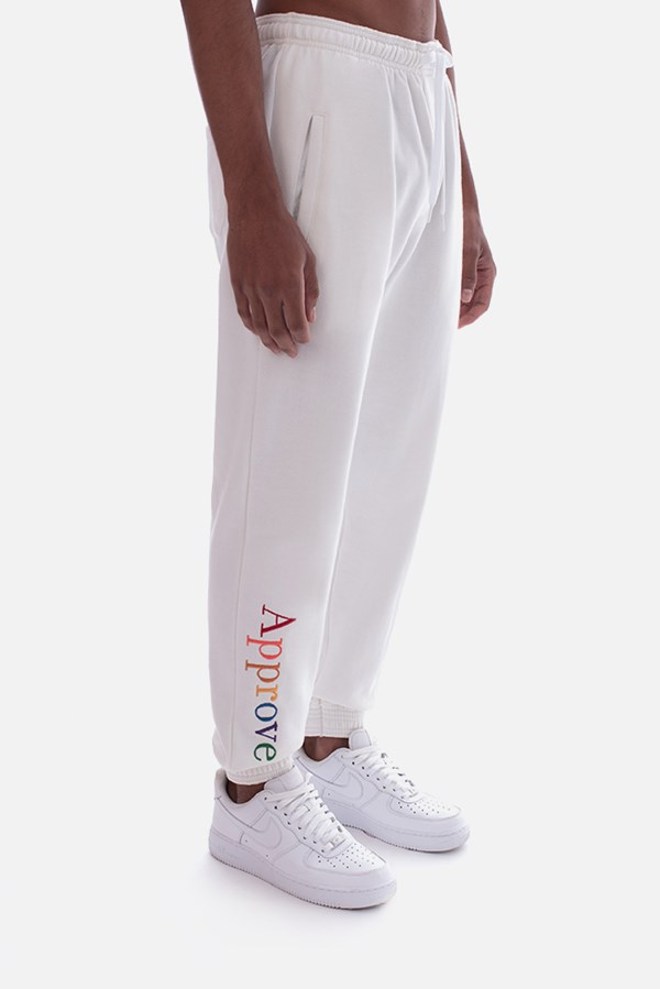 Calça Moletom Approve Rainbow Off White
