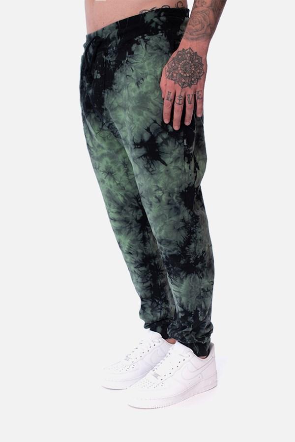Calça Moletom Approve Tie Dye Acid Verde