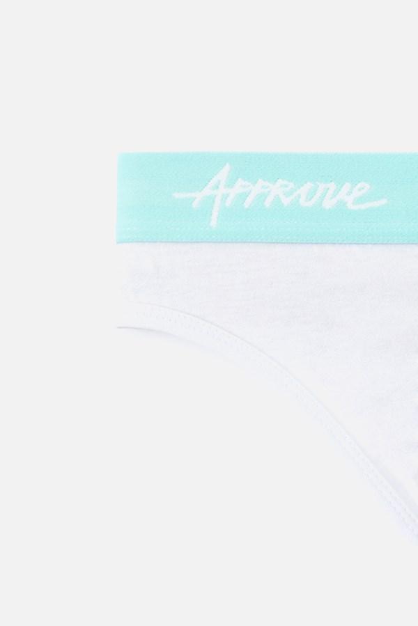 Calcinha Approve Branca com Azul