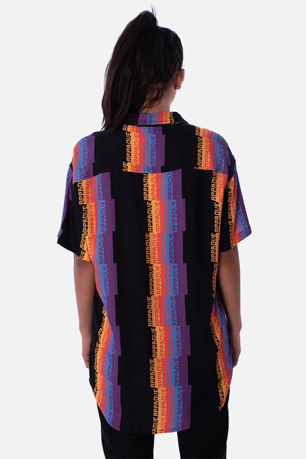 Camisa Approve Pixels&Pills Listrada Preta