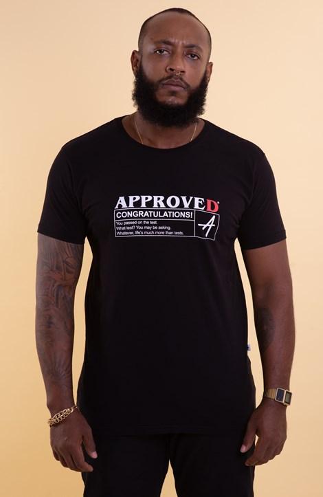 Camiseta Approve Approved Preta