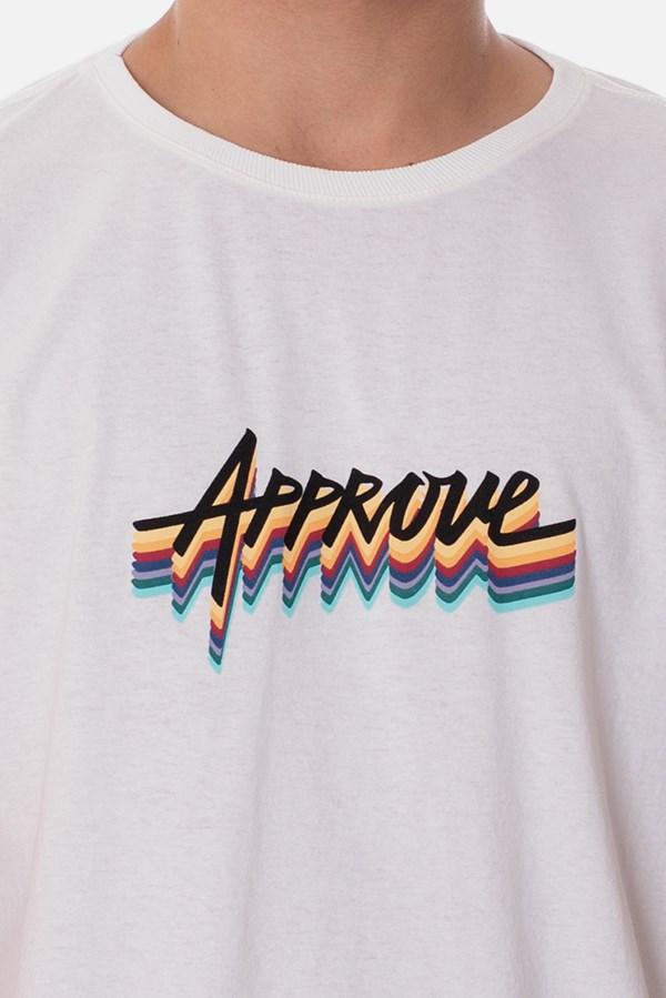 Camiseta Approve Arco-Íris Off White