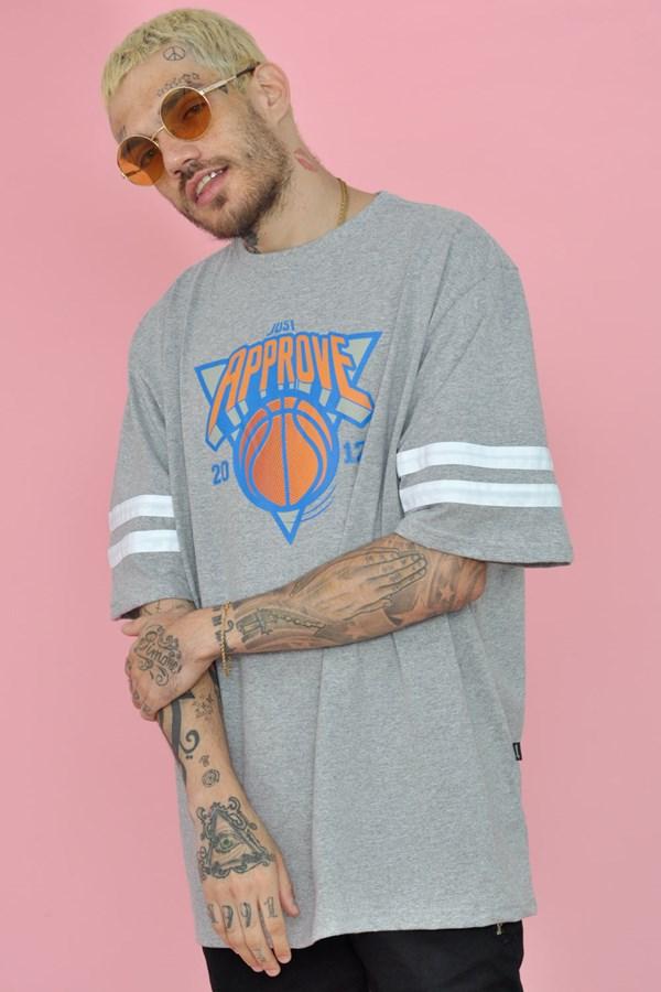 Camiseta Approve Basketball Cinza Mescla