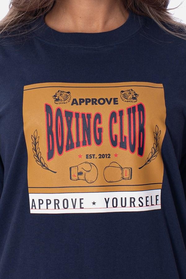 Camiseta Approve Boxing Club Azul Marinho