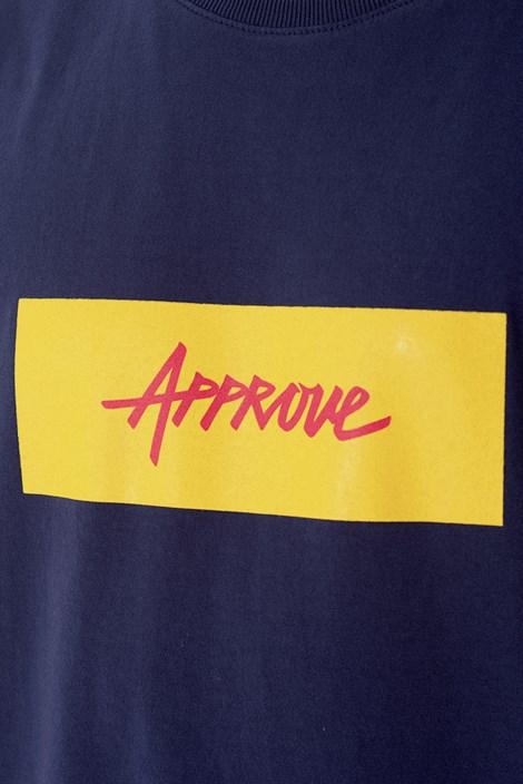 Camiseta Approve Classic Azul Marinho e Amarelo