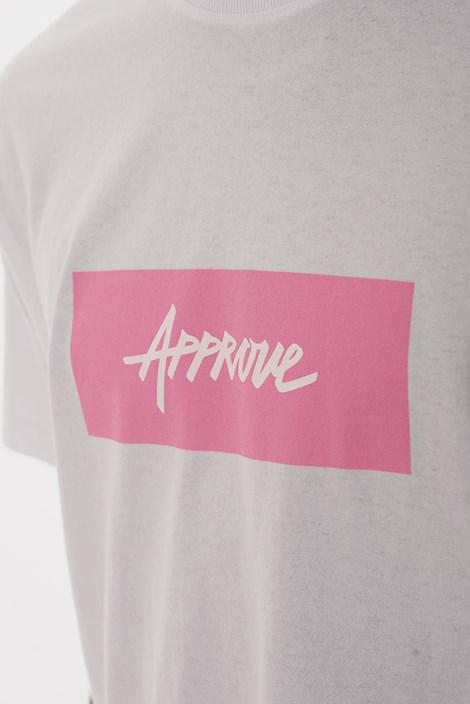 Camiseta Approve Classic Branca e Rosa