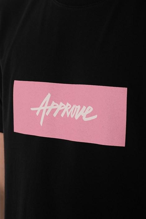 Camiseta Approve Classic Preta e Rosa