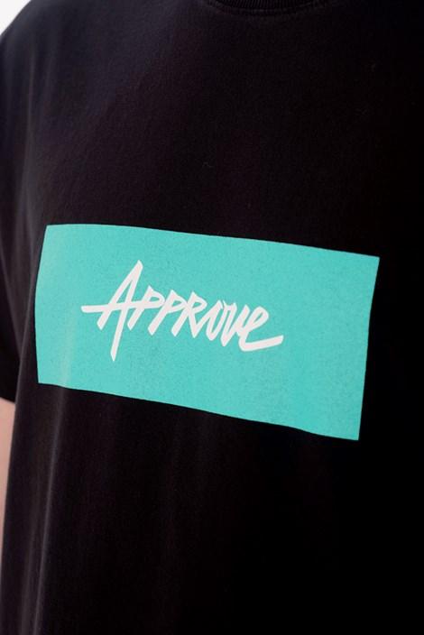 Camiseta Approve Classic Preta e Verde Água