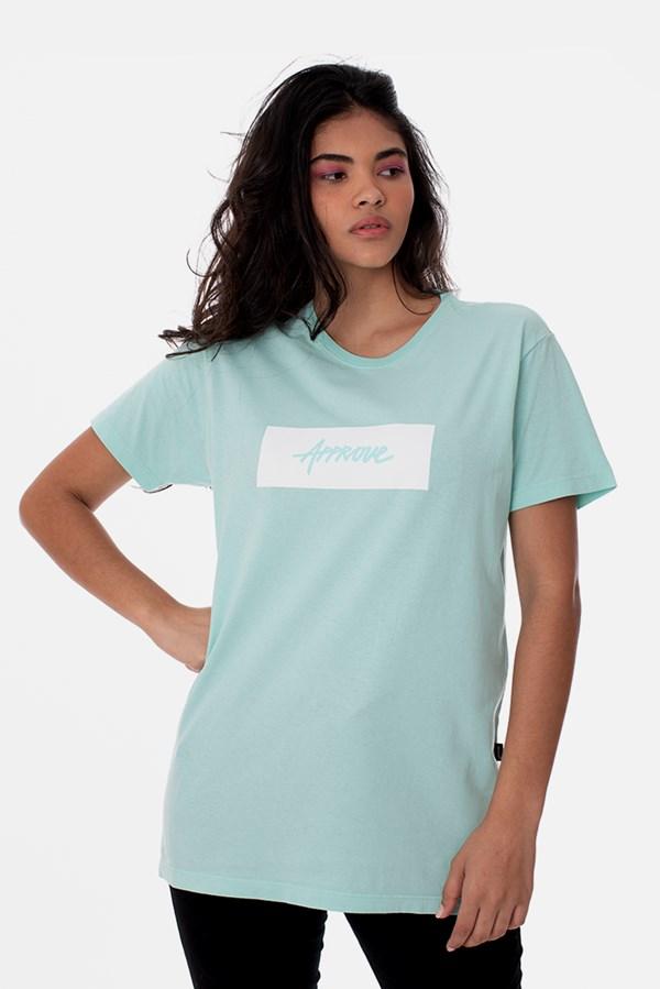 Camiseta Approve Classic Verde Água e Branca