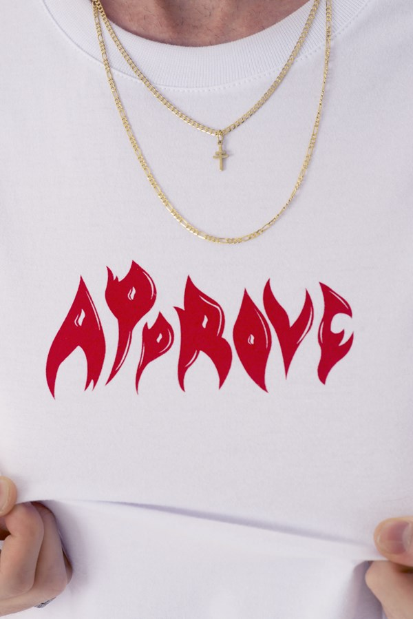 Camiseta Approve Flames by Picon Branca
