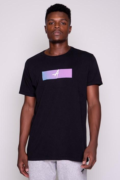 Camiseta Approve Logo Degradê Preta