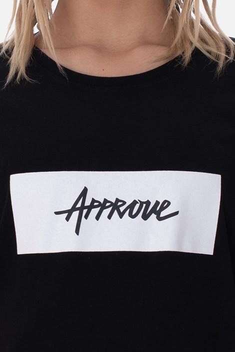 Camiseta Approve Logo Preta E Branca