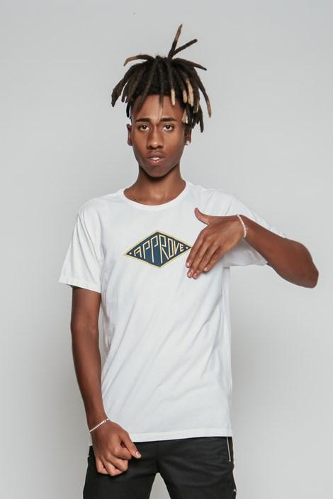 Camiseta Approve Losango Off White