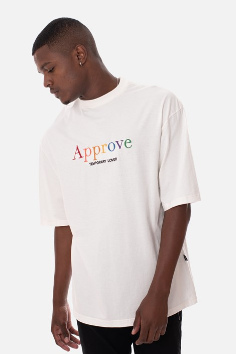 Camiseta Approve Rainbow Off White