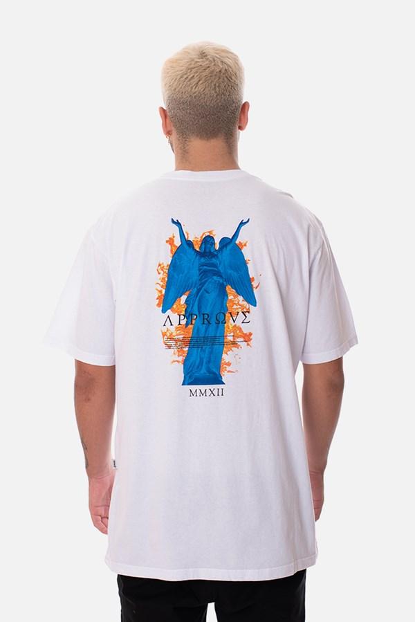 Camiseta Approve Ruínas Angel Statue Branca