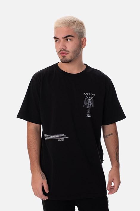 Camiseta Approve Ruínas Angel Statue Preta