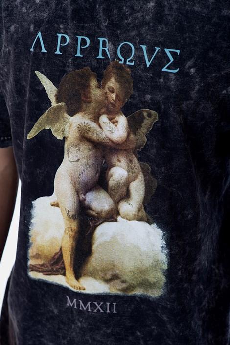 Camiseta Approve Ruínas Baby Angel Cinza Marmorizada