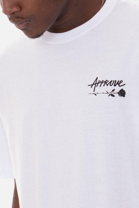 Camiseta Approve Upsidedown Rose Branca