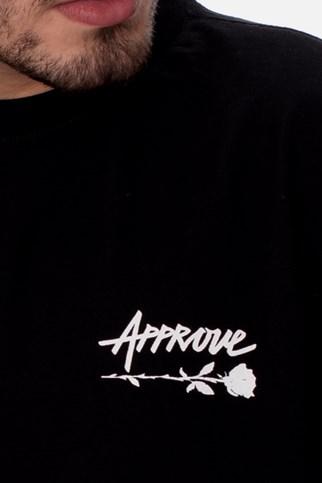 Camiseta Approve Upsidedown Rose Preta