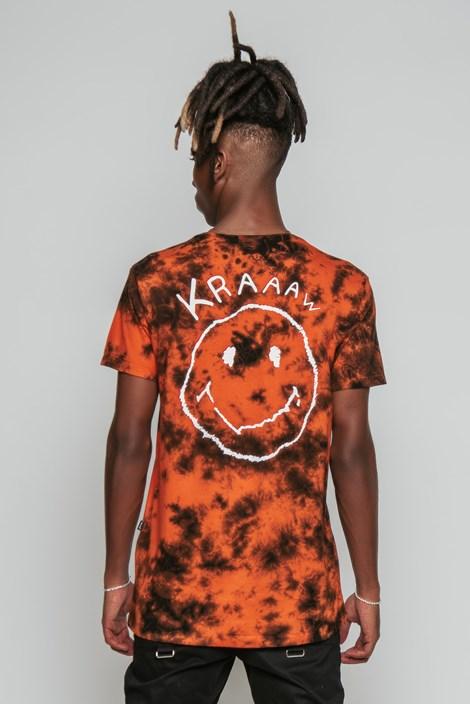 Camiseta Approve x Pedro Sampaio Marmorizada Laranja