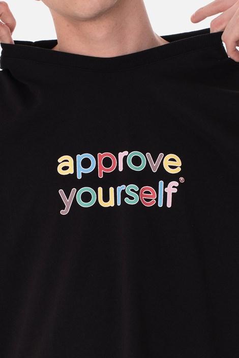 Camiseta Approve Yourself Comic Preta
