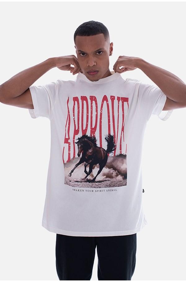 Camiseta Bold Approve Animals Horse Off White