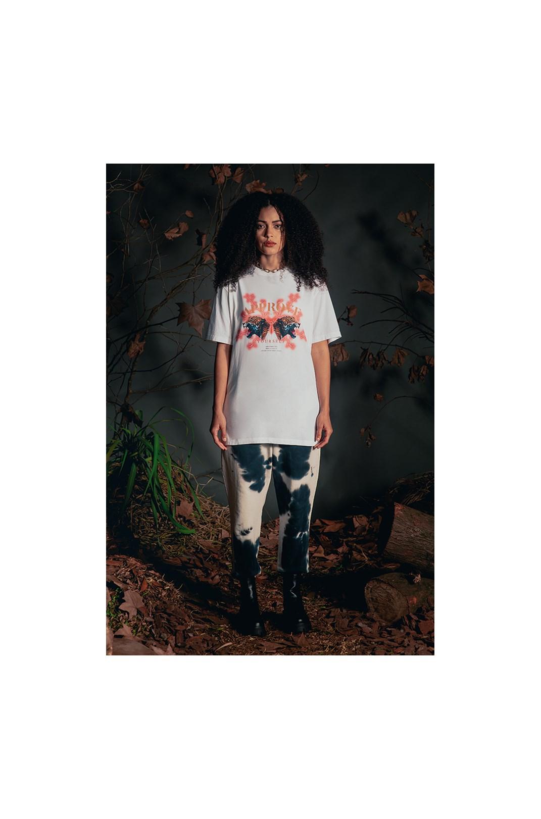 Camiseta Bold Approve Animals Onça Off White