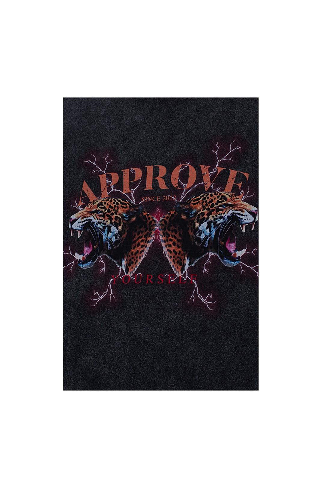 Camiseta Bold Approve Animals Onça Preto Estonado