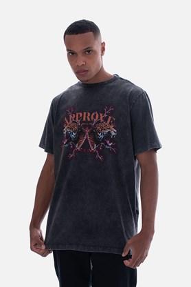Produto Camiseta Bold Approve Animals Onça Preto Estonado