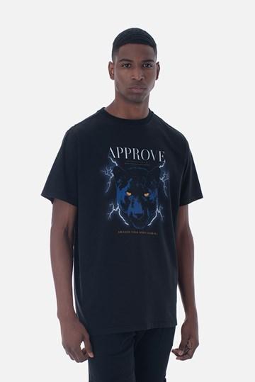 Camiseta Bold Approve Animals Panther Preta