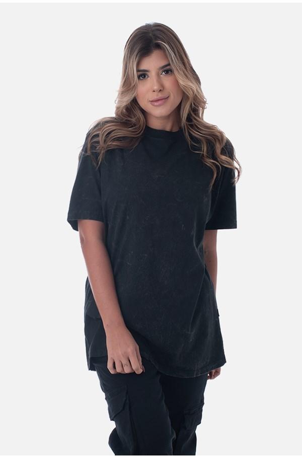 Camiseta Bold Approve Basic Preto Marmorizado