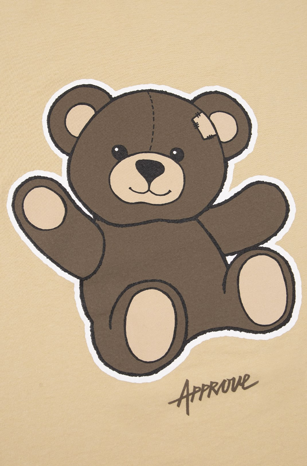 Camiseta Bold Approve Bear Bege