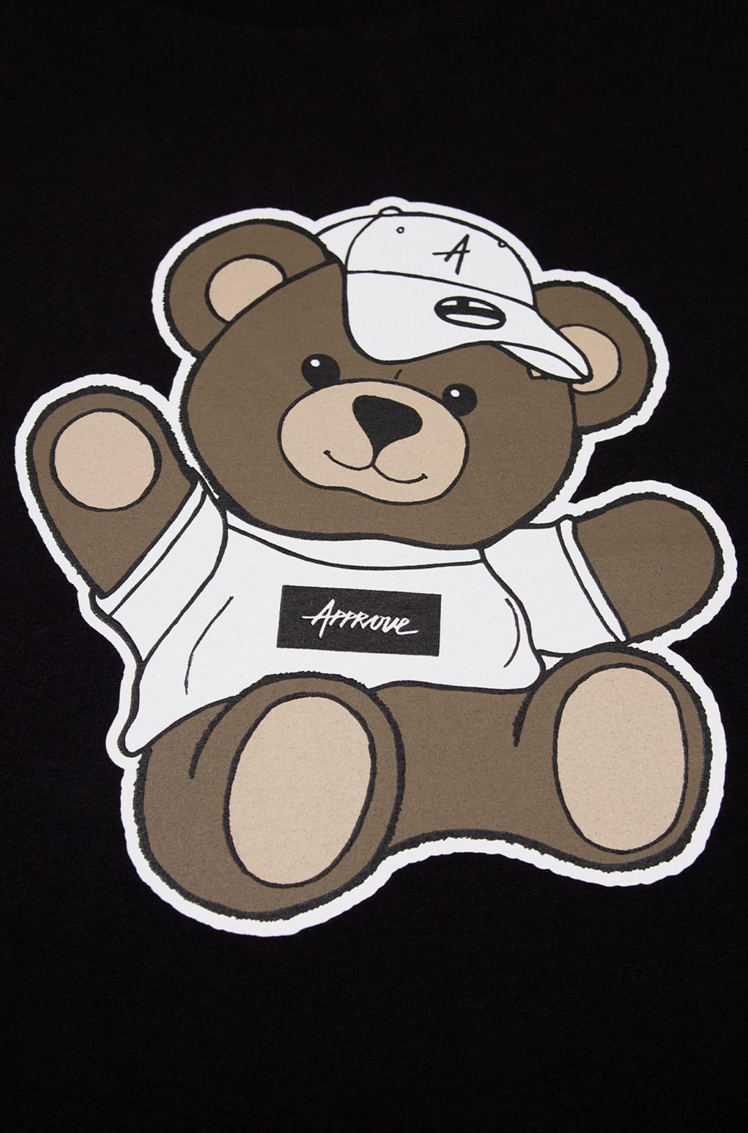 Camiseta Bold Approve Bear Hat Preta