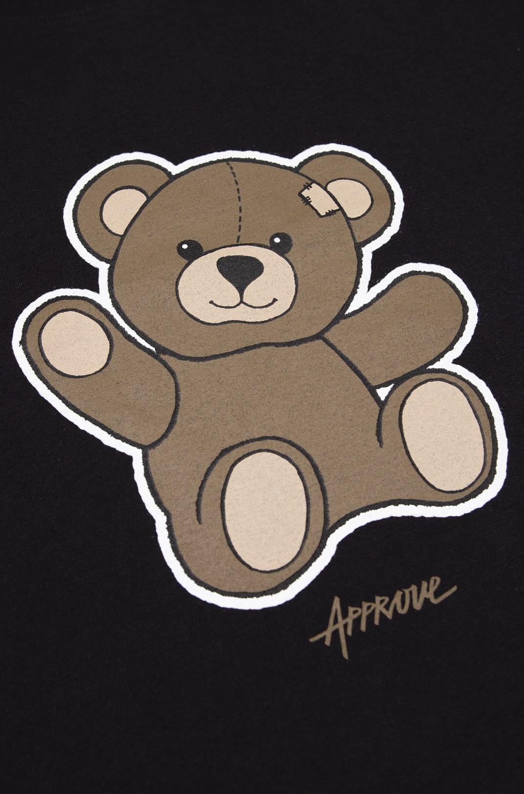 Camiseta Bold Approve Bear Preto