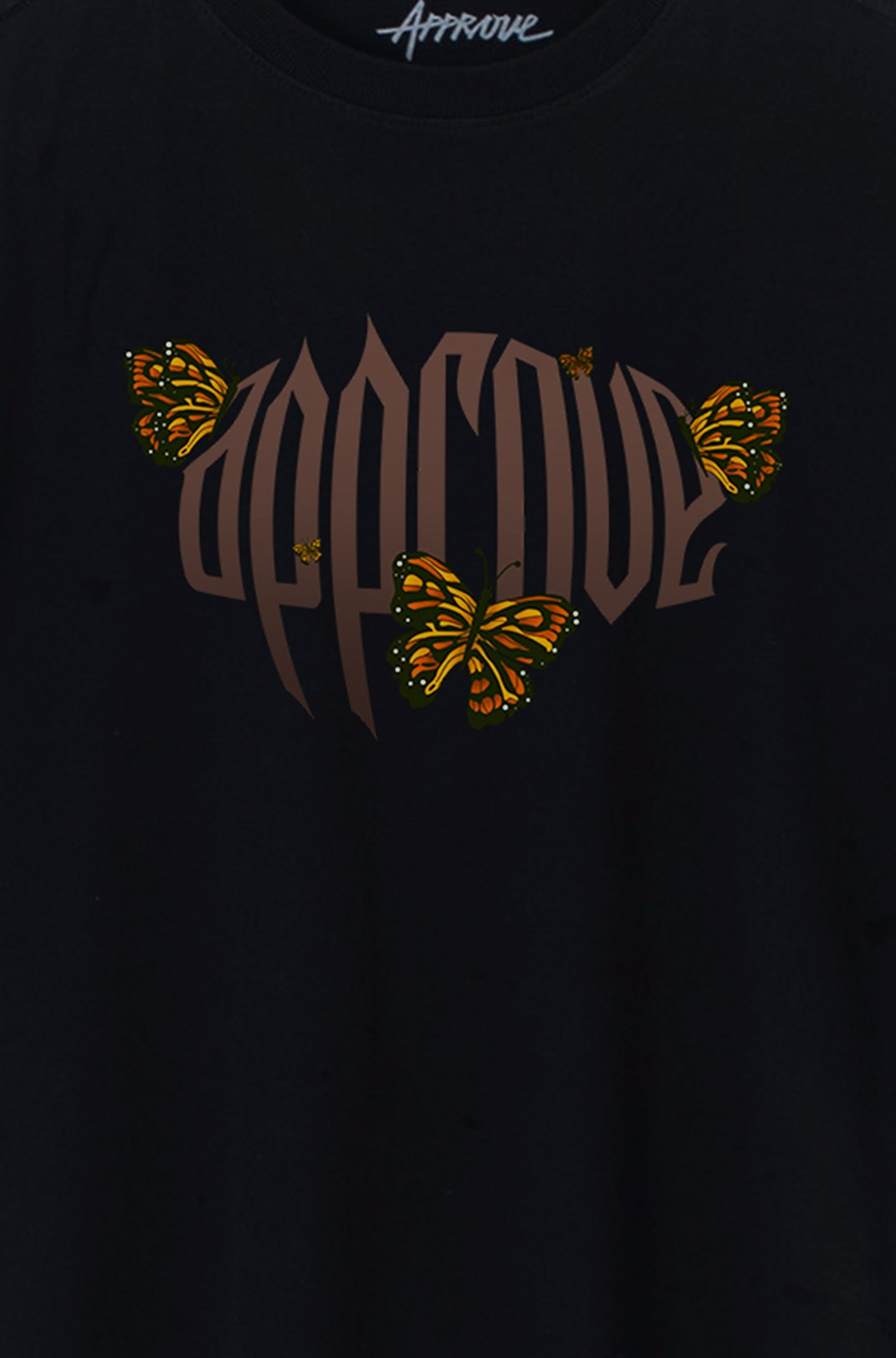 Camiseta Bold Approve Butterfly Effect Preta