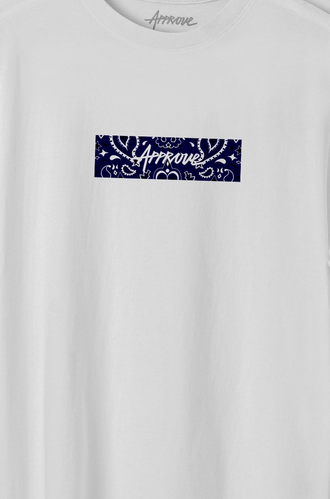 Camiseta Bold Approve Cashmere Branca E Azul