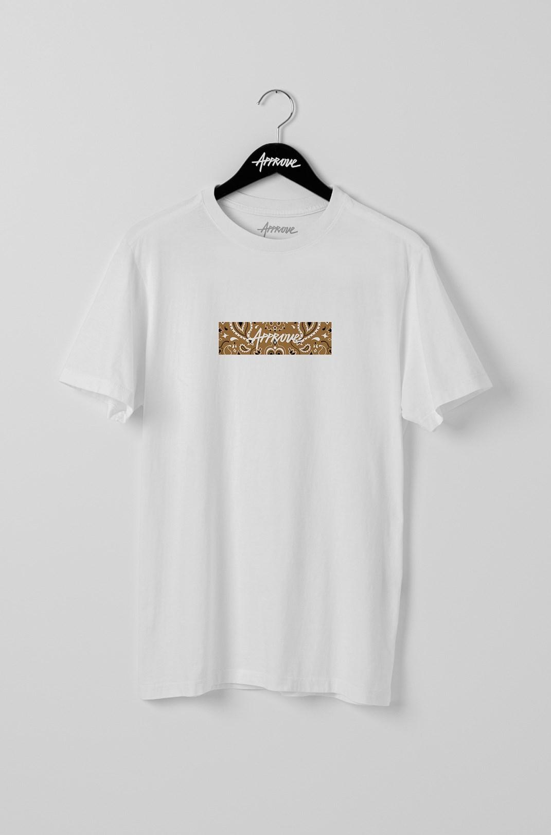 Camiseta Bold Approve Cashmere Branca E Bege